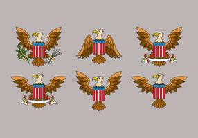 Águia Seal EUA Vector