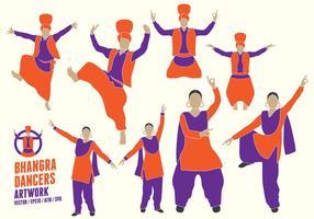Figuras Punjabi Dançarinos vetor