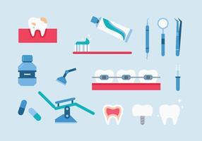 Ícones dentista vetor