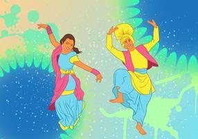Bhangra dança no fundo festival do ano novo vetor