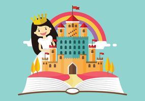 Princesa dos desenhos animados História Vector grátis