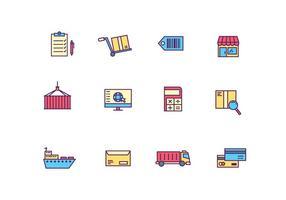Logística e ícones de entrega