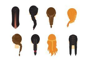 Plait Vector cabelo