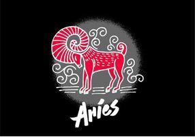 Símbolo do zodíaco do Aries vetor
