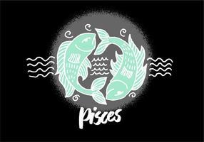 Símbolo do zodíaco Pisces vetor
