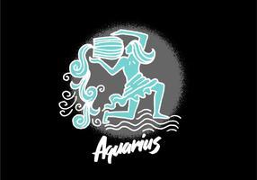 Símbolo do zodíaco do Aquarius vetor