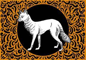 Mão ornamentado desenhado Fox Projeto vetor