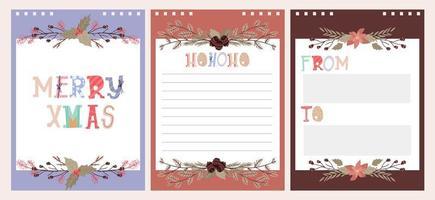 coleção de design de celebração de feriado de natal vetor