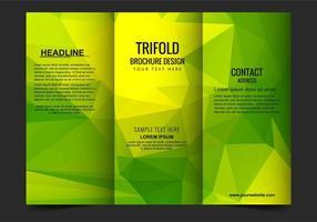 Template Free Vector com três dobras catálogo de Negócios
