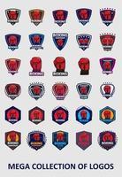 coleção de modelos de logotipo de boxe