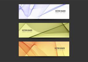 Vector livre coloridos cabeçalhos definidos