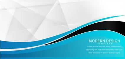 modelo de banner abstrato da web vetor