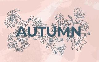fundo de outono floral vetor