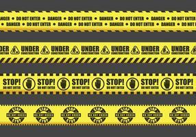 Fita de advertência Vector Signs