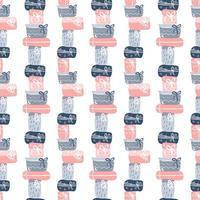textura de padrão sem emenda com design de caixas de presente desenhada à mão vetor