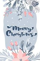 design de cartão de feliz natal vetor