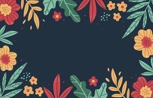 desenhado à mão fundo floral colorido