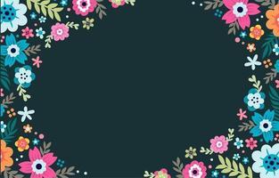 fundo de quadro floral colorido vetor