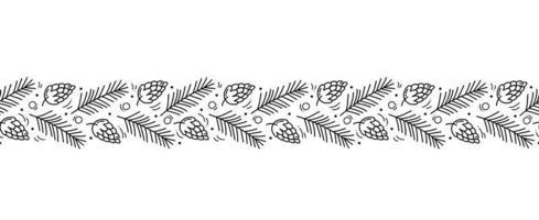 Natal monoline escandinavo padrão sem emenda vetor