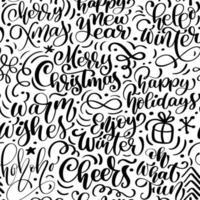 padrão sem emenda para o natal com florescer e caligrafia