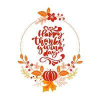 bouquet de outono grinalda de ação de graças vetor