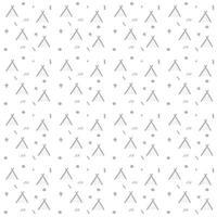 wigwam escandinavo padrão sem emenda e elementos