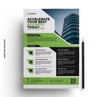 design multifuncional de panfleto corporativo vetor