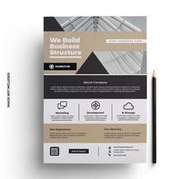 modelo de layout de design de impressão de folheto tan