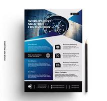 design criativo do folheto da empresa vetor