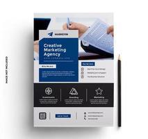 modelo de design de folheto em tamanho A4 vetor