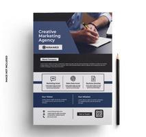 flyer design corporativo em tamanho A4 vetor