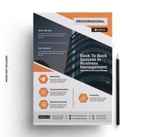modelo de folheto de negócios moderno e elegante com impressão vetor