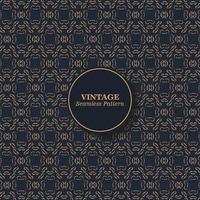 padrão de textura sem costura vintage vetor