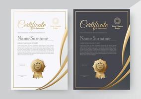 conjunto de modelo de prêmio de certificado vetor