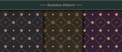 conjunto de padrão de textura perfeita elegante vetor