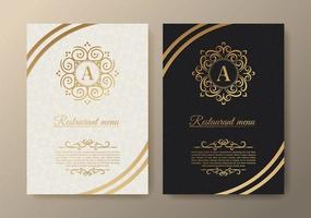 menu de restaurante com elegante estilo ornamental vetor