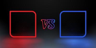 vermelho e azul versus quadros vetor