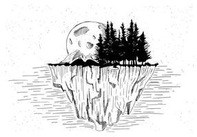Livre ilustração vetorial paisagem vetor