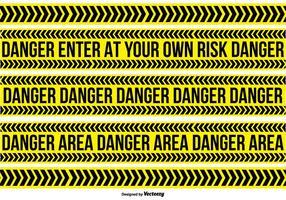 Perigo coleção de fitas vetor