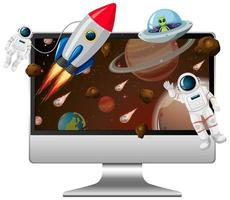 fundo de galáxia na tela do computador