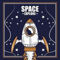 explore a composição retro do espaço e da galáxia