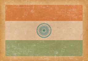 Bandeira de India no fundo velho Grunge vetor