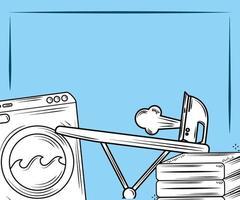 composição de elementos de lavanderia vetor