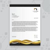 modelo de papel timbrado de luxo dourado criativo vetor