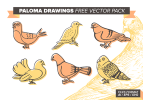 Paloma desenhos livres Pacote Vector