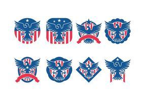 Águia Seal emblema Vector Pack