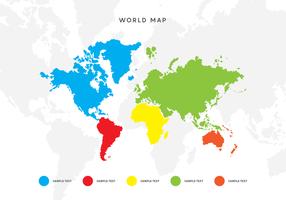 Mapa do mundo do vetor com ponteiros