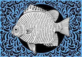 Peixe Projeto ornamentado vetor