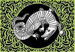 Enfeitado design do réptil vetor