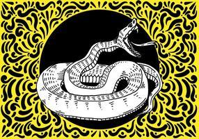 Ornamentado Projeto da serpente vetor